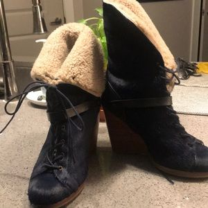 UGG Wedge Boots- Navy Blue